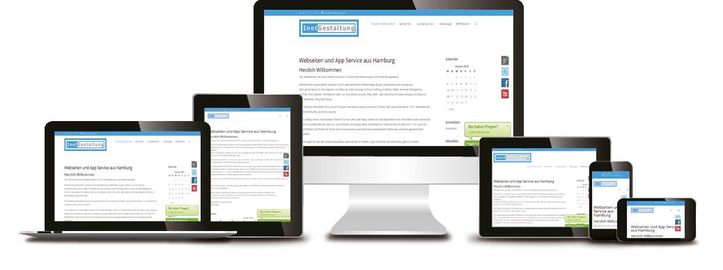 Responsive Homepage von Norbert Papke